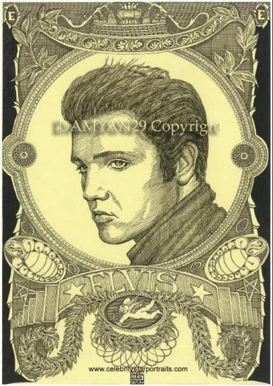 Elvis Presley by Damyan